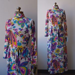 Dresses & Skirts - 1960s VINTAGE Psychedelic Print Dress
